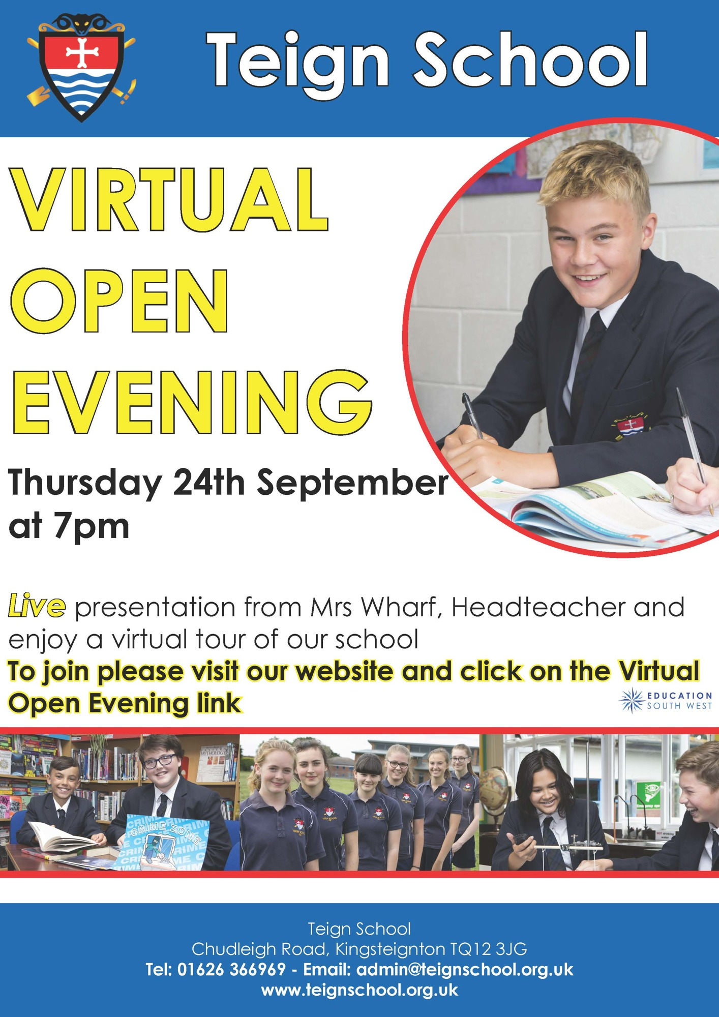 Tei virtual open day poster sep 20