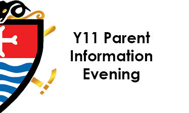 Year 11 Parent Information Evening - Monday 28th September at 5.30pm