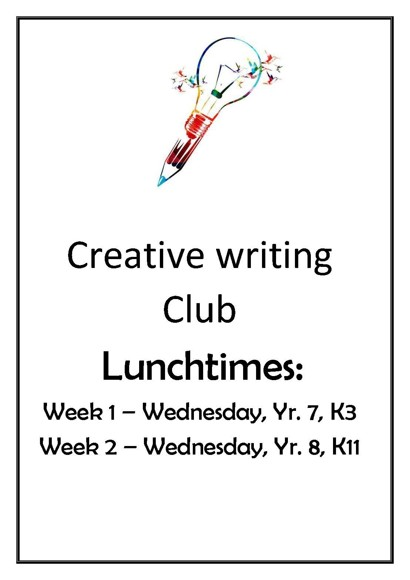 Creative writing club poster
