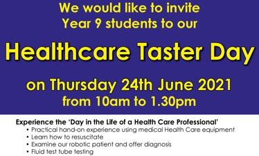 South Devon UTC Healthcare Taster Day - Thursday 24th June 2021
