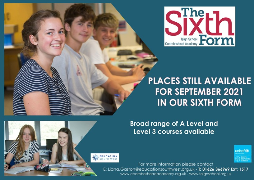 The sixth form poster aug 2021