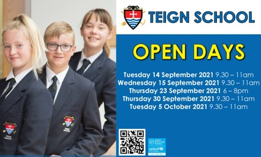 Find out more about our latest open days