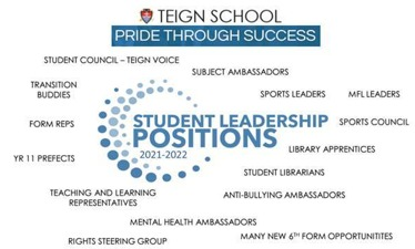 Student Leadership and Student Voice Recruitment Week 13th – 17th September